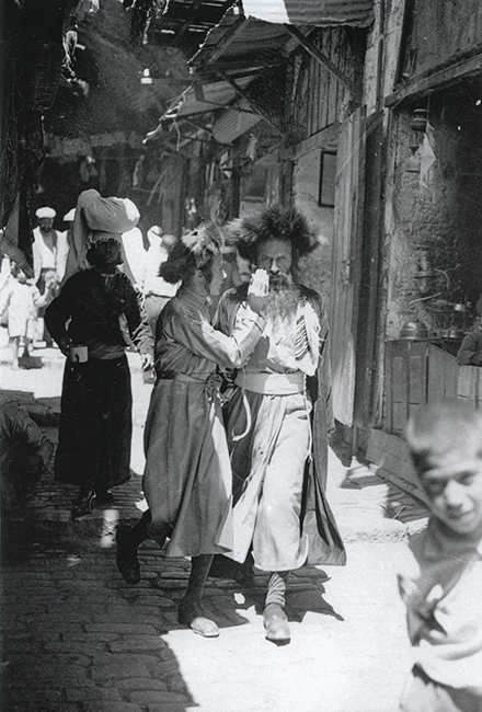 Jews on Khan El Ze'it Street, 1936