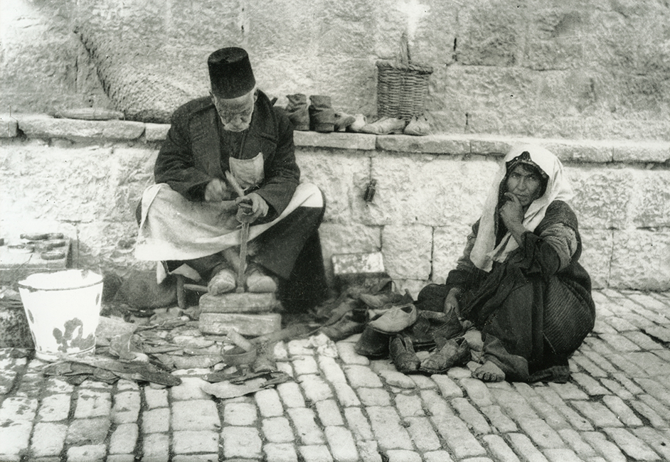 Armenian shoe mender, 1935