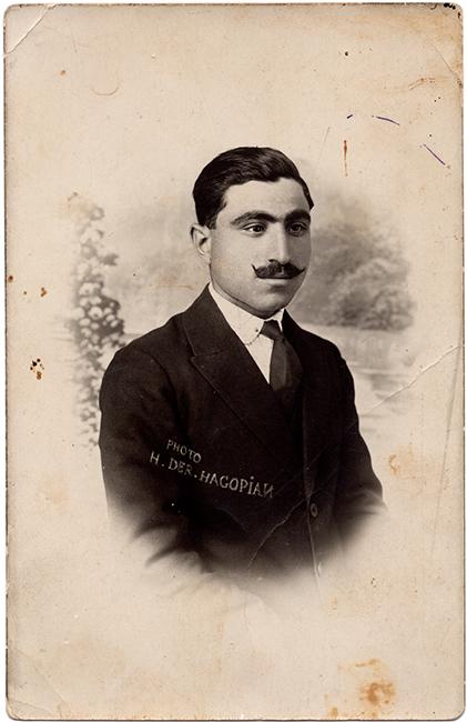 Self-portrait, Haroutiun Derhagopian, ca. 1925