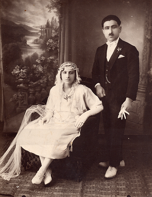 Wedding self- portrait by Haroutiun Derhagopian (August 23, 1925)