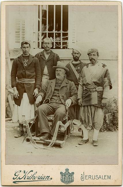 Garabed Krikorian Studio. Western tourist with tour guides, ca. 1900 (Malikian Collection)