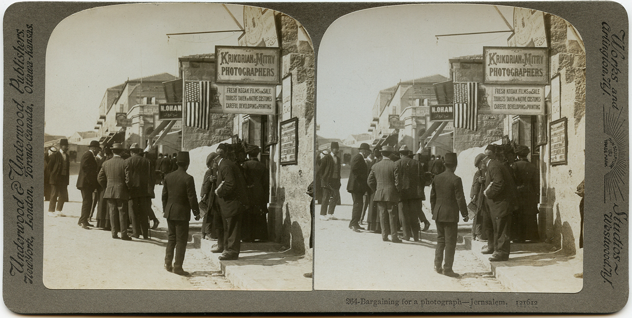 Garabed Krikorian & Mitry Studio. 'Bargaining for a photograph,' ca. 1900 (Malikian Collection)