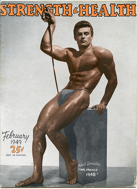 Robert Duranton, 'Mr. France' 1948 on the cover of Strength & Health magazine. Photo by Arax Studio (Malikian Studio)