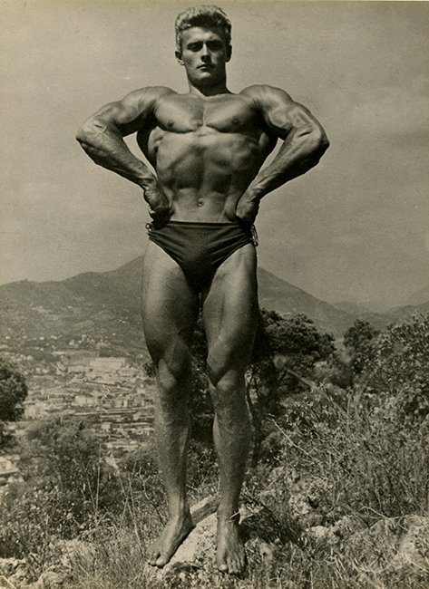 Robert Duranton, in Cannes, France, August, 1948. 'The most beautiful Athlete of France, 1948 (Malikian Collection)