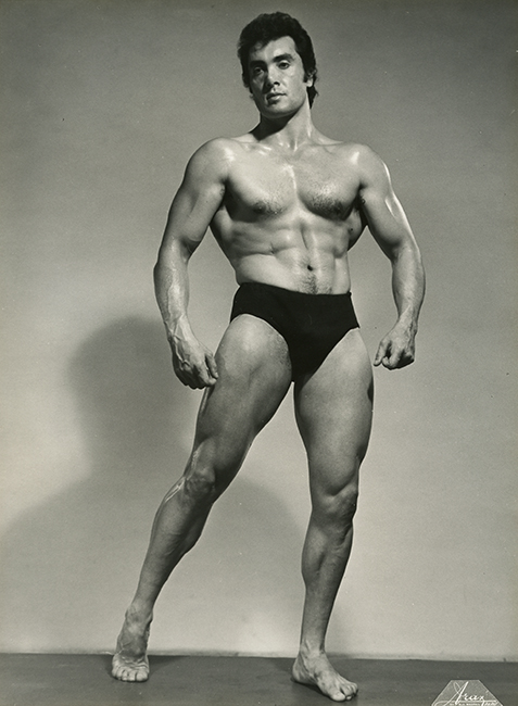 Yan Larvor, Paris, November 15, 1960. Winner of Mr. Apollo bodybuilding title, 1954, Tall category (Malikian Collection)