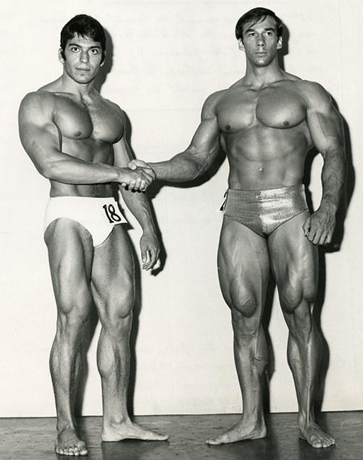 Mister Universe Competition, London, 1969. Khaled Beyrakdar, Lebanon (no. 18) and Boyer Coe, USA (Malikian Collection)